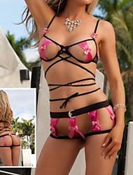 Sexy Lingerie Babydoll Women Erotic Underwear String Bowknot Nightwear Bandage 8015
