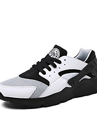 Men's Shoes Athletic Tulle/Fabric Fashion Sneakers Black/White