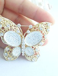 Women Accessories Gold-tone Clear Rhinestone Crystal Brooch Art Deco Butterfly Brooch Bouquet Women Jewelry