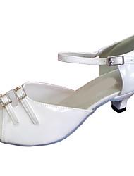 Customized Women's Sandal Customized Heel Leatherette Latin Dance Shoes with Double Rhinestone Buckie