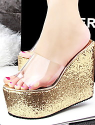 Women's Shoes  Platform Wedges/Platform/Comfort/Open Toe Slippers Casual Black/Blue/White/Silver/Gold