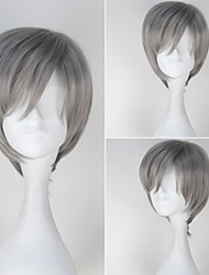 Seraph of the End Shinya Hiragi Men's Short Straight Silver Grey Color Anime Cosplay Wig