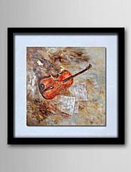 peintures à l'huile toile peinte à la main de violon abstraite moderne un panneau prêt à accrocher