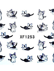 Cute Kitten Nail Art Stickers