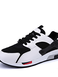 Men's Running/Basketball/Walking Shoes Rubber/Leather/Tulle Black/Red/White