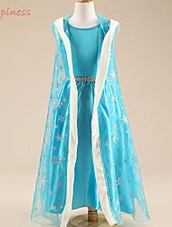Girl's All Seasons Micro-elastic Medium Long Sleeve Dresses (Cotton/Polyester/Satin/Silk)