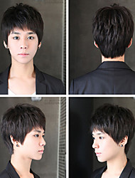 Han Edition Men Wig Men Handsome Student Male Hair Male Hair Fleeciness Realistic Wig Inclined Bang Wholesale