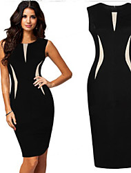 B.V.X  Women's Sexy/Beach/Casual Round Sleeveless Dresses (Cotton)