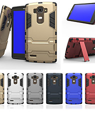 Pour Coque LG Antichoc Avec Support Coque Coque Arrière Coque Armure Dur Polycarbonate pour LG LG G4