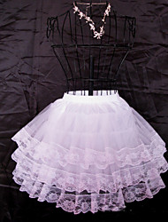 Déshabillés ( Filet de tulle , Blanc ) - Robe de soirée longue - 3 - 50CM