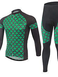 Cycling Jersey with Tights Men's Long Sleeve BikeBreathable / Quick Dry / Moisture Permeability / Reflective Strips / Back Pocket /