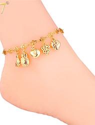 u7® vrouwen verschillende vruchten charmes speciale enkelbanden 18k echt goud / platina-plated mooie armbanden enkelbanden