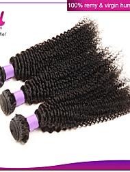 Brazilian Hair Kinky Curly Virgin Hair Mixed Lengths 3Pcs/Lot Brazilian Human Hair Weaves