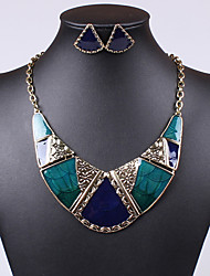 European and American fashion personality retro all-match high-grade oil necklace earrings set 0246#
