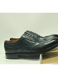 Men's Shoes Wedding/Office & Career/Party & Evening/Casual Leather Oxfords Blue