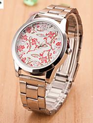 archaize texto de cuarzo del reloj de señora hombres y mujeres con acero de aleación de moda con un reloj