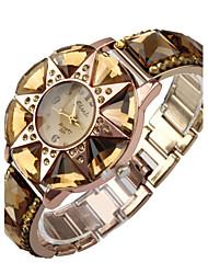 montre à quartz montre femmes en acier inoxydable de cristal de cas montre cristal de diamant étoiles élégant pour dame