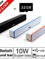 besteye® carta di 32GB TF e g-807 10w hifi altoparlanti bar suono fm aux telecomando Bluetooth stereo parla fili