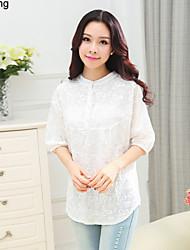 Yu Ling Women's Three Quarter Sleeve Casual Loose Bottom Blouse