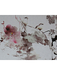 Landscape/Floral/Botanical Oil Painting Hand-Painted Wall Art Other Artists 画面尺寸50*95厘米,装裱后成品60*120厘米