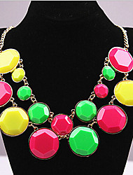New Arrival Fashional Hot Sellign Geometric Gem Necklace
