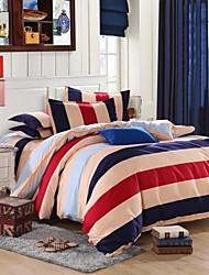 Mingjie City Style Blue Red Yellow Sanding Bedding Sets 4pcs Duvet Cover Sets Bed Linen China Queen Size and Full Size