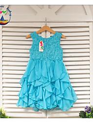 Girl's Summer Long Style Princess Sleeveless  Dresses (Cotton Blends)