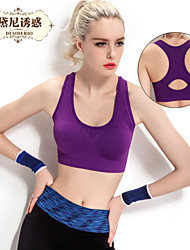 Dnyh® women's  Major earthquake motion of running steel ring vest-style Yoga-free Bras