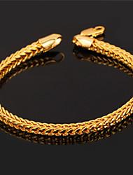 plaqué lien cube chaîne en or 18 carats chunky des hommes topgold bracelet pour hommes, femmes de haute qualité avec le timbre 18k