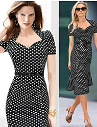 HD Women's Casual Round Short Sleeve Dresses