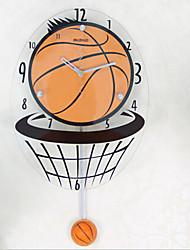 Wall clock basketball personality