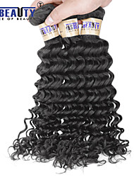 "4 Pcs /Lot 8""-30"" 6A Brazilian Virgin Hair Deep Wave Human Hair Wefts 100% Unprocessed Brazilian Remy Hair Weaves"