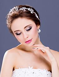 Women's Rhinestone / Alloy Headpiece-Wedding / Special Occasion Tiaras / Headbands 1 Piece Clear Round