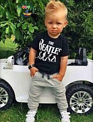 Boy's Cotton Blend Clothing Set , Summer Short Sleeve