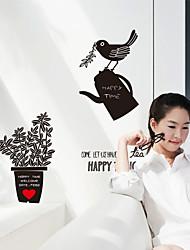 Wall Stickers Wall Decals, Modern Creative bird watering pot PVC Wall Stickers