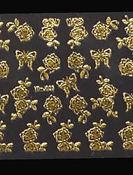 Autocolantes de Unhas 3D/Nail Art em Polímero - Abstracto/Adorável - para Dedo - de PVC - com 1 sheet - 8*8