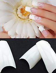 500 padrões brancos coreano profissional metade bem falsos dicas de acrílico da arte do prego (50pcsx10 tamanhos misto)