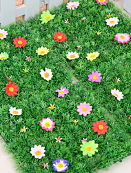 1PCS Artificial Lawn Simulation Grass with Flowers Home / Garden Decor (25*25cm)