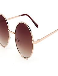 100%UV400 Women's Fashion Metal Round Full-Rim Retro Prescription Eyeglasses