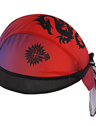 WEST BIKING® Unisex Soft Breathable Bicycle Cap Red Dragon Polyester Pirate Kerchief UV Sunscreen Cycling Accessories