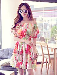 Pink Doll®Women's Bateau Beach/Casual/Print Boho ½ Length Sleeve  Dress