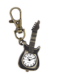 Unique Antique Fashion Alloy Creative Guitar Pocket Watches Pendent Necklace Key Chain Watch For Men Women Gift Cool Watches Unique Watches