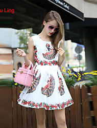 Yu Ling Summer New Women Slim Dress