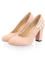 Girls' Shoes Casual Heels/Round Toe  Pumps/Heels Black/Blue/Pink/White/Beige Gifts (insoles, laces, shoe, socks, color