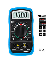 Bside MAS838 2000 Counts Small Handheld Digital  Multimeter with Temperature Measurement and Case For Protection