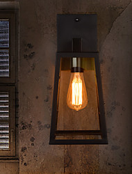 Modern Wall Light with Glass Shade and Metal Bracket