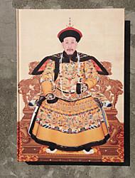 chinês tradição qianlong imperador, padrão papel de arroz enquadrado notabook / presente
