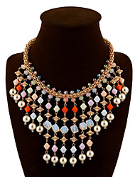 Vintage/Party Alloy/Gemstone & Crystal/Acrylic Statement