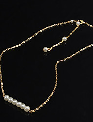 Women's Fashion Pearl Beaded Pendant Necklace