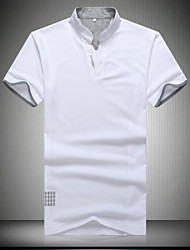 Men's Casual/Work/Formal/Sport/Plus Sizes Pure Short Sleeve Regular Polo Shirts  (Cotton)